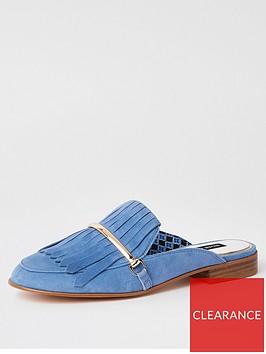 river-island-river-island-leather-fringed-slip-on-loafer--blue