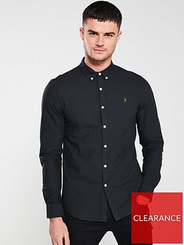 farah-long-sleeved-brewer-shirt-black