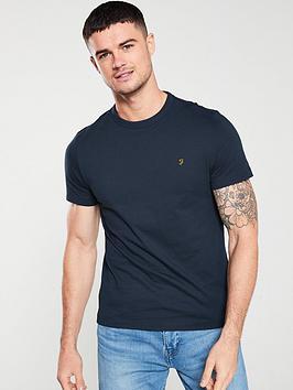 farah-dennis-solid-t-shirt-true-navy