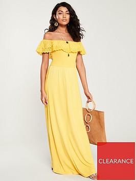 v-by-very-bardot-maxi-dress-yellow