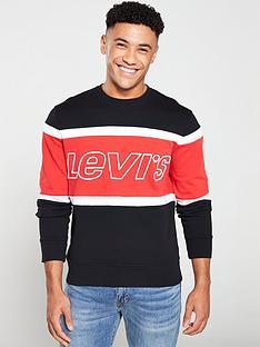 levis-pieced-crew-sweatshirt-blackredwhite