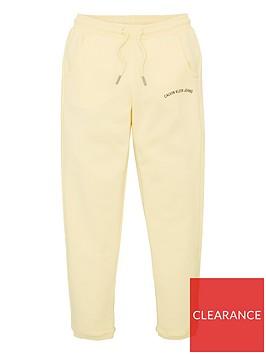 calvin-klein-jeans-girls-logo-joggers-yellow