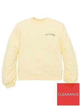 calvin-klein-jeans-girls-logo-chest-sweat-yellow