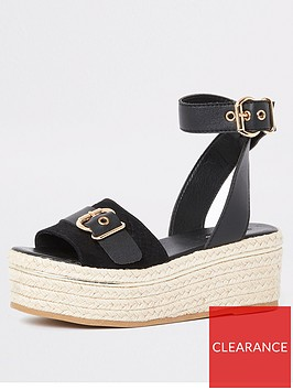 river-island-river-island-espadrille-two-part-flatform--black