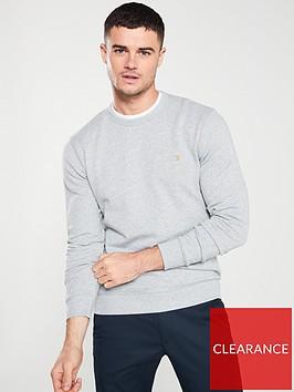 farah-tim-crew-sweatshirt-light-grey-marl