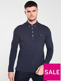 farah-ricky-long-sleeve-polo-shirt-true-navy