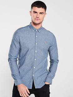 farah-steen-long-sleeved-brewer-shirt-bluebell