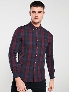farah-long-sleeved-tartan-brewer-shirt-rednavy-tartan