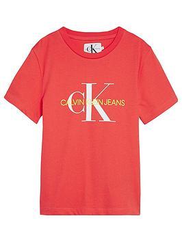 calvin-klein-jeans-girls-monogram-short-sleeve-t-shirt-coral