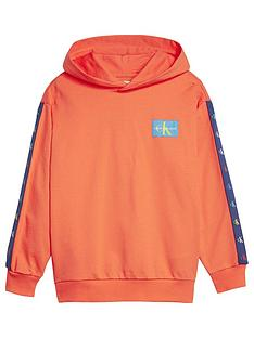 calvin-klein-jeans-boys-monogram-tape-hoodie-orange