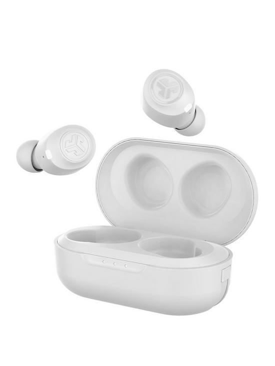 e10d6274fb4 JLab JBUDS Air True Wireless Bluetooth Earbuds with Voice Assistant  Compatibility and Charging Case - White