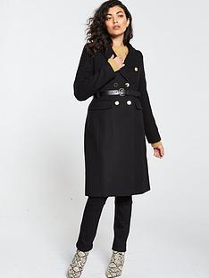 v-by-very-gold-button-belted-coat-black