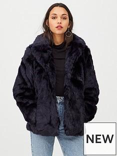 v-by-very-short-faux-fur-coat-navy
