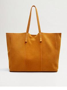 mango-large-leather-shopper-bag-mustard