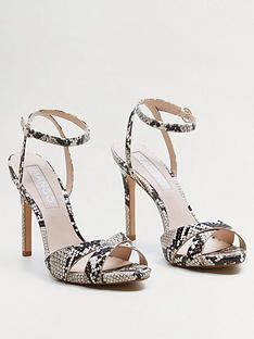 69480246803 Mango Snake Detail Strappy High Heel