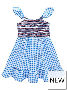 v-by-very-girls-gingham-floaty-midi-dress-blue