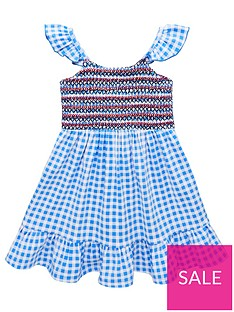 fa45d9dcb V by Very Girls Gingham Floaty Midi Dress - Blue