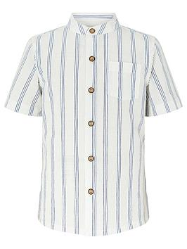 monsoon-boysnbspgerry-granddadnbspstripe-shirt-ivory