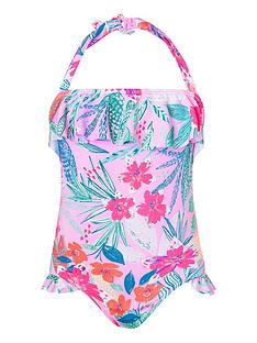 1351e261f3 Monsoon Girls Coco Halter Swimsuit - Pale Pink