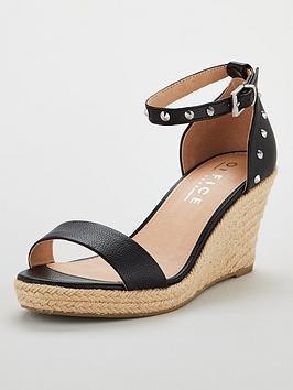 office-music-wedge-sandals-black