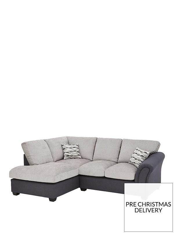 Surprising Quartz Fabric Compact Left Hand Standard Back Corner Chaise Sofa Machost Co Dining Chair Design Ideas Machostcouk