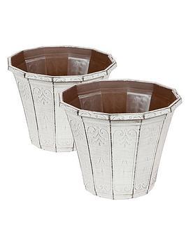 pair-of-callista-round-planters-12-inch-vintage-rust-effect