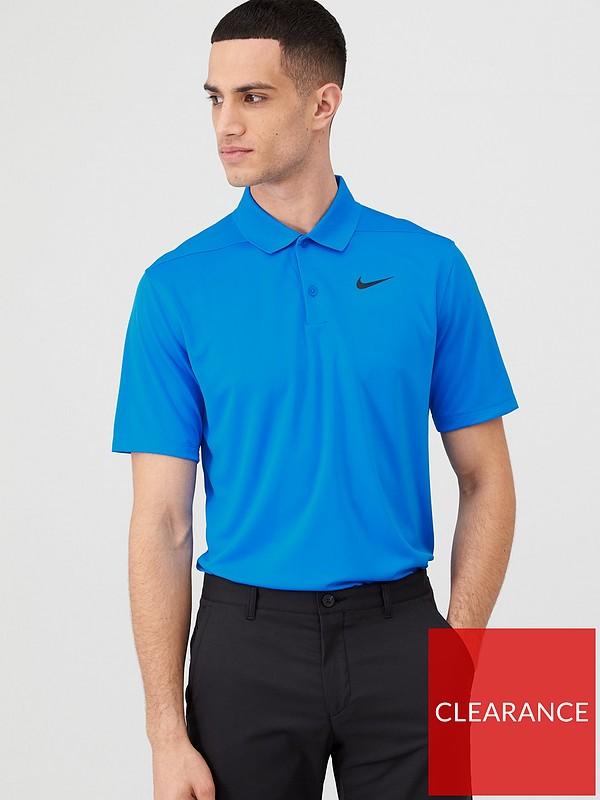 para dirección jugador  Nike Golf Dry Victory Polo Solid - Blue | very.co.uk