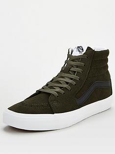 vans-sk8-hi-plimsolls-greenwhite