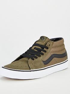 vans-vans-sk8-mid-plimsolls-greenwhite