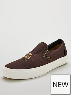 vans-harry-potter-slip-on-hufflepuffnbspskate-shoes--nbspbrown