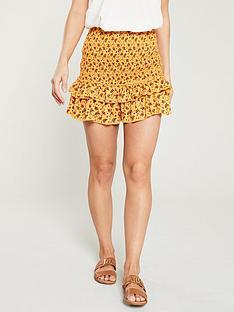 river-island-ditsy-printed-shirred-skirt