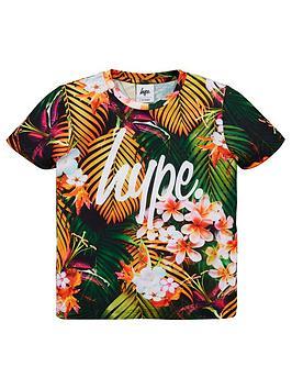 hype-boys-palm-print-short-sleeve-t-shirt-multi