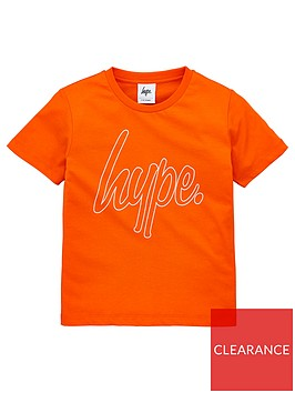 hype-boys-script-short-sleeve-t-shirt-orange