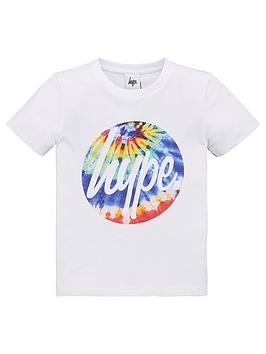 hype-boys-tie-dye-circle-short-sleeve-t-shirt-white