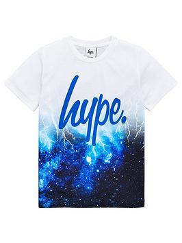 hype-boys-lightening-fade-script-short-sleeve-t-shirt-white