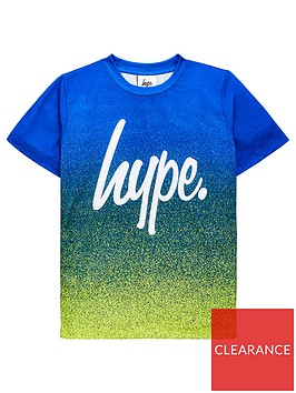 hype-boys-script-fade-short-sleeve-t-shirt-greenblue