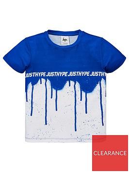 hype-boys-drip-fade-short-sleeve-t-shirt-blue