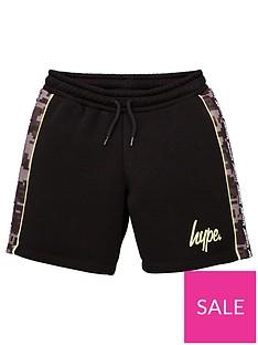 hype-boys-camo-panel-jog-shorts-black