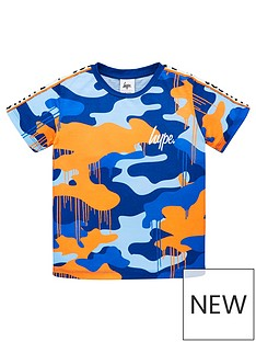 hype-boys-camo-taped-short-sleeve-t-shirt-blue