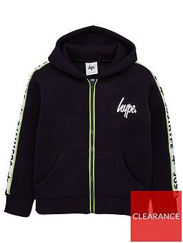 hype-boys-taped-zip-through-hoodie-navy