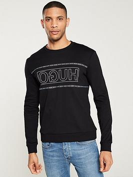 hugo-dicago-reverse-logo-sweatshirt-black
