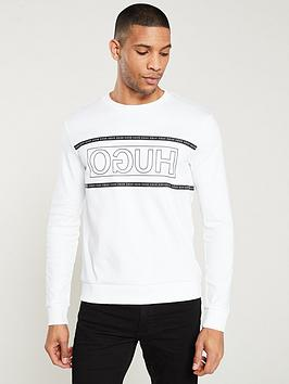 hugo-dicago-reverse-logo-sweatshirt-white