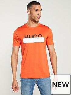 hugo-dolivenbsplogo-print-t-shirt-orange