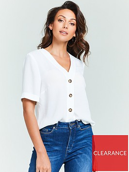 michelle-keegan-turnback-cuff-casual-blouse-white