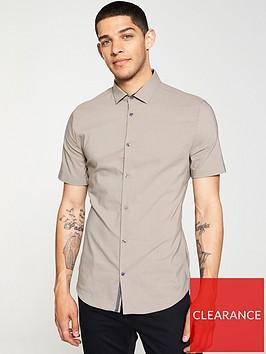 river-island-brown-textured-slim-fit-shirt