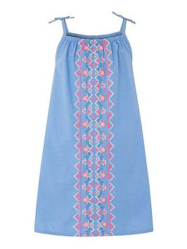 accessorize-girls-chambray-embroidered-dress-blue