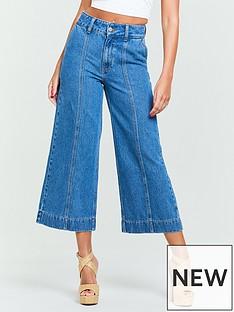 32aceb8b292 Michelle Keegan Seamed Wide Leg Culotte Jeans