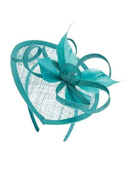 accessorize-tia-teardrop-fascinator-teal