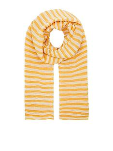 accessorize-pleated-stripe-scarf-yellow