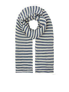 accessorize-pleated-stripe-scarf-blue